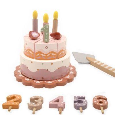Födelsedagstårta i trä med musik - Magni
