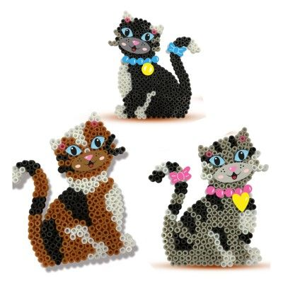 Pärlplatta med katter - 1200 pärlor - SES Creative