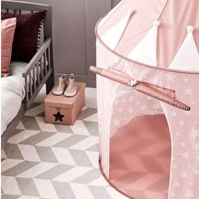 Lektält - rosa - vita stjärnor - Kids Concept