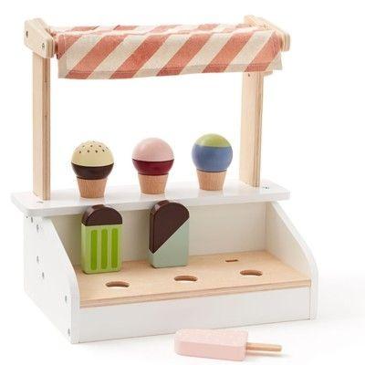 Leksaksmat - Glasstånd med glassar i trä - Kids Concept