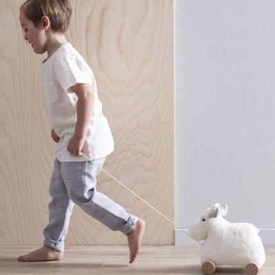 Dragleksak - vit älg - Kids Concept