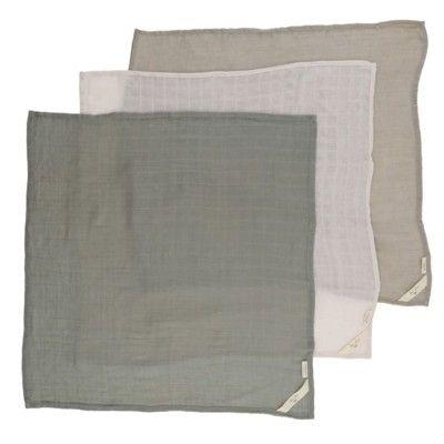 Amningsfilt/handduk - Lime stone - 3 st - ekologisk från Konges sløjd