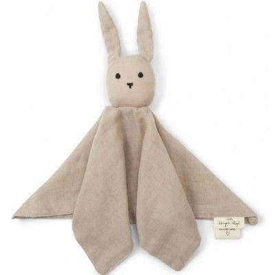 Snuttefilt - Sleepy Rabbit - Dark Clay - ekologisk från Konges sløjd