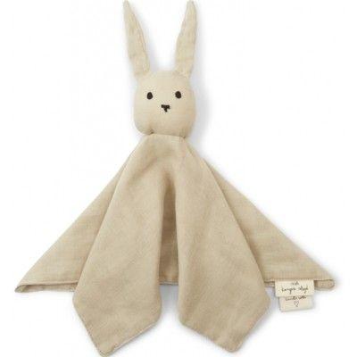 Snuttefilt - Sleepy Rabbit - Silver Birch - ekologisk från Konges sløjd