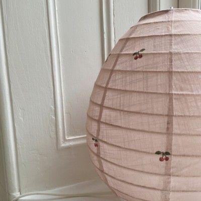 Bordslampa i bomull - cherry - Konges slöjd