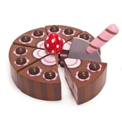 Leksaksmat - Tårta i trä, choklad - Honeybake - Le Toy Van