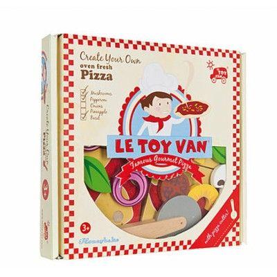 Leksaksmat - Pizza med pizzaskärare - Honeybake - Le Toy Van