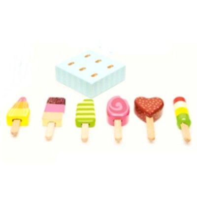 Leksaksmat - Glasspinnar i trä i trälåda - Honeybake - Le Toy Van