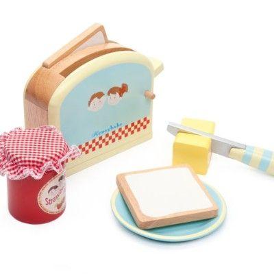 Leksaksmat - Frukost med brödrost i trä -  Honeybake - Le Toy Van