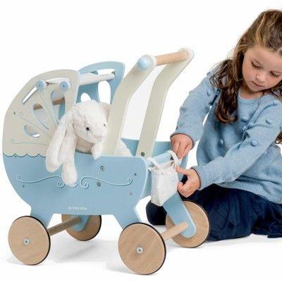 Dockvagn i trä - blå - Le Toy Van