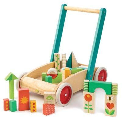 Gåvagn med klossar - Tender Leaf Toys
