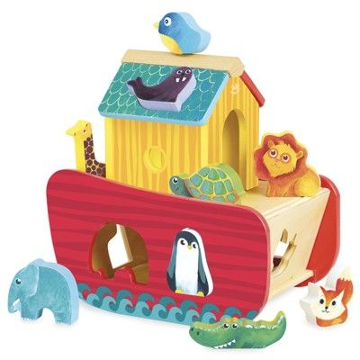 Klosslåda i trä - Noahs ark - Vilac