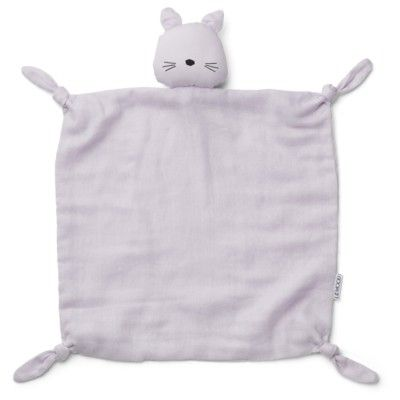 Snuttefilt - Cuddle Cloth Cat light lavender - ekologisk från Liewood