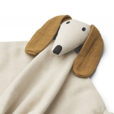 Snuttefilt - Cuddle Cloth Dog sandy - ekologisk från Liewood