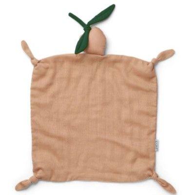 Snuttefilt - Cuddle Cloth Peach/peach - ekologisk från Liewood