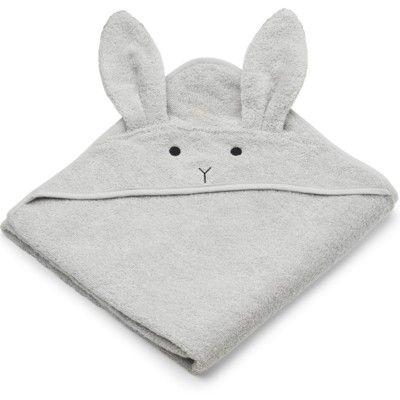 Juniorhandduk med luva - Rabbit dumbo grey - Ekologisk från Liewood