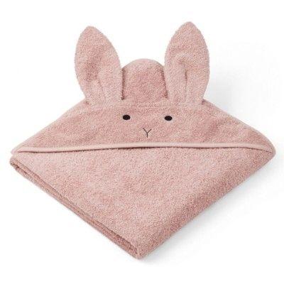Handduk med luva - Augusta Rabbit rose - Ekologisk från Liewood