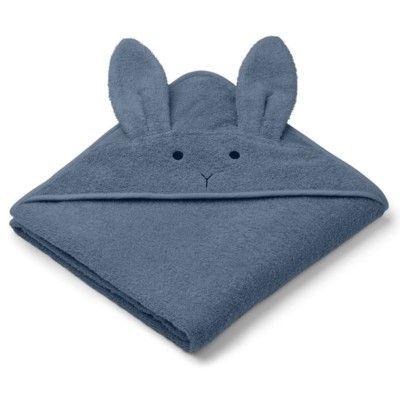 Handduk med luva, Junior - Augusta Rabbit blue wave - Ekologisk från Liewood