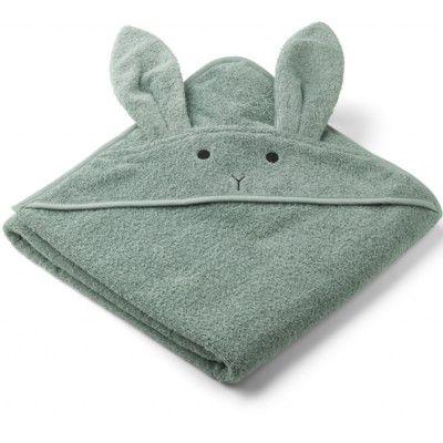 Juniorhandduk med luva - Rabbit peppermint - Ekologisk från Liewood