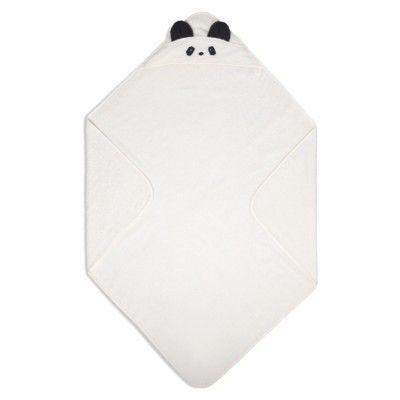 Handduk med luva, Junior - Panda Creme de la creme - Ekologisk från Liewood
