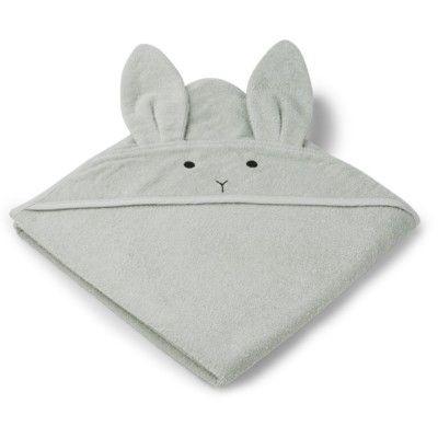 Handduk med luva - Augusta Rabbit dusty mint - Ekologisk från Liewood