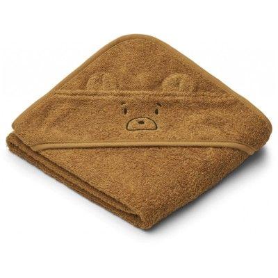 babyhandduk med luva - Mr bear golden caramel - Ekologisk från Liewood