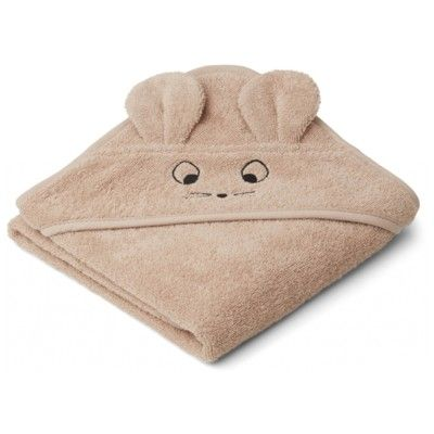 babyhandduk med luva - Albert Mouse pale tuscany - Ekologisk från Liewood