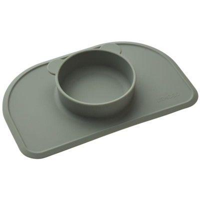 Underlägg i silikon med inbyggd skål - Faune green - Liewood
