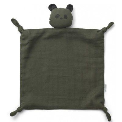 Snuttefilt - Cuddle Cloth - Panda hunter green - ekologisk från Liewood