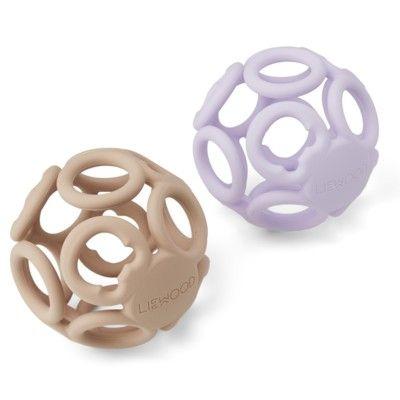 Boll, Jasmin teether ball - 2 pack - Light lavender rose mix - Liewood