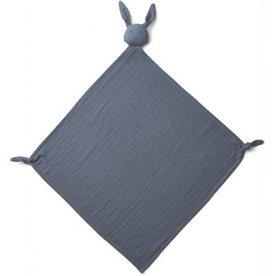 Snuttefilt - Robbie multi muslin cloth - Rabbit blue wave - ekologisk från Liewood
