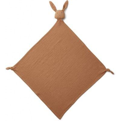 Snuttefilt - Robbie multi muslin cloth - Rabbit terracotta - ekologisk från Liewood