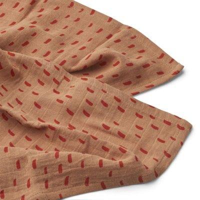 Amningsfiltar/handdukar - Graphic stroke/tuscany rose - 2 st - ekologisk från Liewood