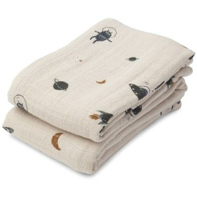 Amningsfiltar/handdukar - Space sandy mix - 2 st - ekologisk från Liewood