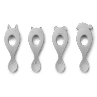 Skedar i silikon - Dumbo grey - 4 st - Liewood