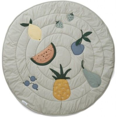 Lekmatta - Gitta activity blanket, Fruit dove blue - ekologisk från Liewood