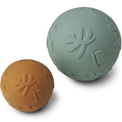Boll, Thea baby ball - 2-pack -  Dino mustard peppermint mix - Liewood