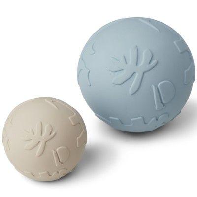 Boll, Thea baby ball - 2-pack - Dino sandy sea blue mix - Liewood
