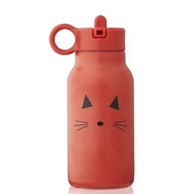 Drickflaska - Falk water bottle - Cat apple red - 250 ml - Liewood