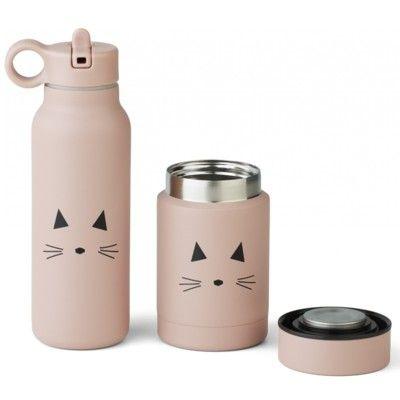Drickflaska och Matburk - Marlow set - Cat rose - Liewood