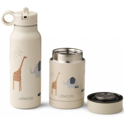 Drickflaska och Matburk - Marlow set - Safari sandy mix - Liewood
