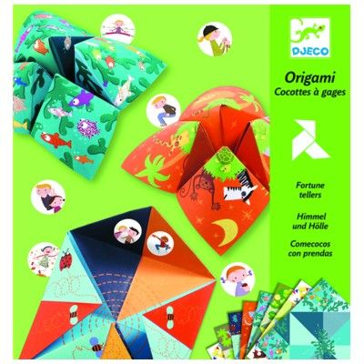 Origami - vika loppor - grön- Djeco