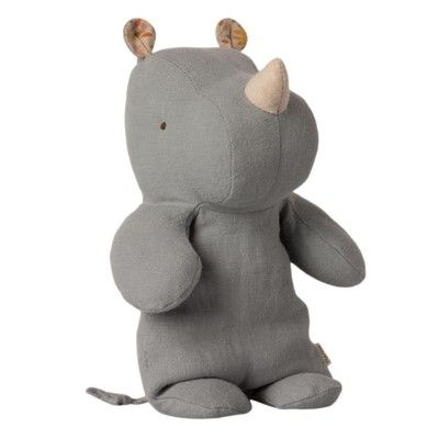Safari friends small rhino - Blue/grey - gosedjur - 22 cm från Maileg