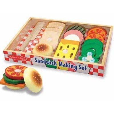 Leksaksmat - Bröd och pålägg i trä