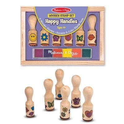 Stämpelset - 6 stämplar med handtag