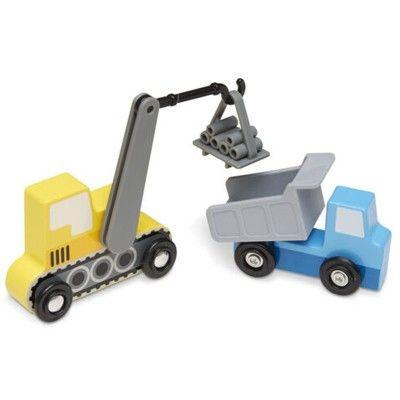 Träbilar - 7 bilar - Construction - Melissa & Doug