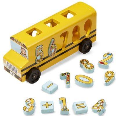 Klosslåda i trä - mattebuss - Melissa & Doug
