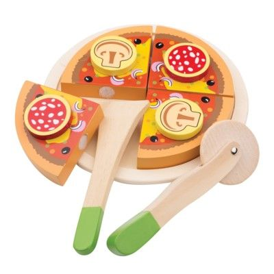 Leksaksmat - Pizza med pizzaskärare - New Classic Toys
