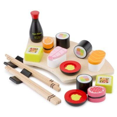Leksaksmat - Sushi set i trä - New Classic Toys