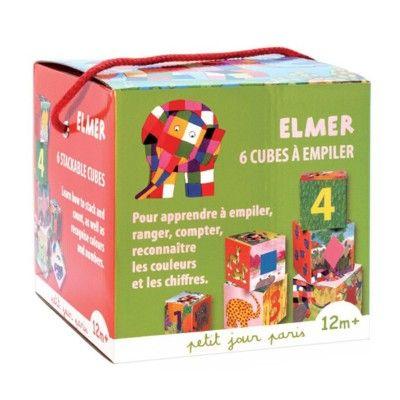 Stapelklossar - Elefanten Elmer - Petit Jour
